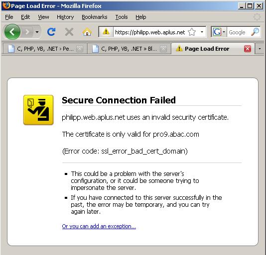 Използва чужд сертификат