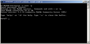 Отваряне на MySQL Client чрез CMD