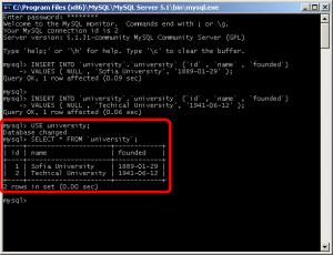SQL insert into
