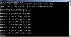 mysql source command