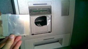 Включително може да се изреже дупка в самия банкомат!