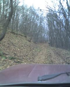 Лада Нива на горски път