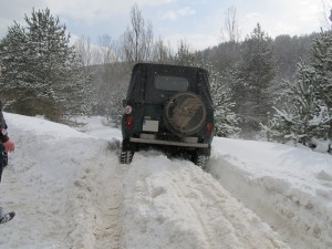 УАЗ в снега