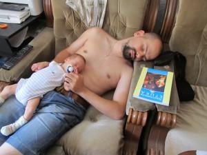 Пепи и тати спят