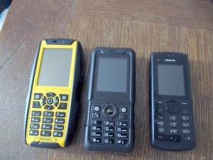 JCB Pro-Talk vs Durrocomm LM801 vs Nokia X1