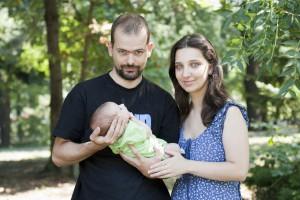 Филип, Милена и бебето Петър