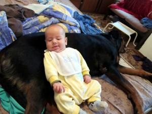 Бебето лежи върху Берра 1