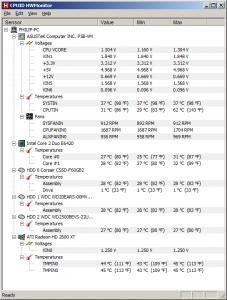 Температура без товар на процесора