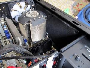 Радиатора на охладителя отстрани