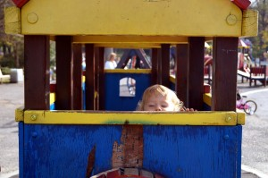 pepi-on-a-wooden-train