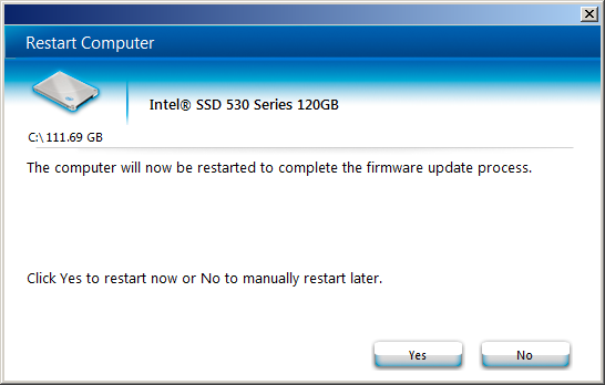 Intel 530 FW update