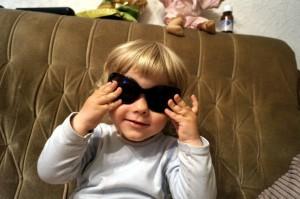 Пепи със слънчеви очила