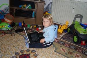 Пепи с лаптоп 1